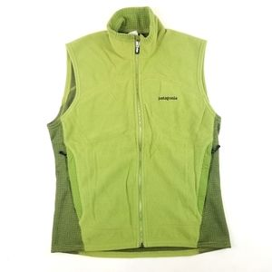 Mens Patagonia Green Zip Up Vest Size M